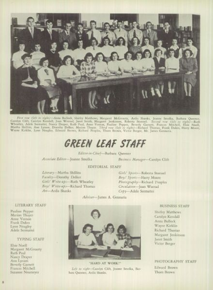 1950 Mt. Pleasant High School Yearbook Page 8