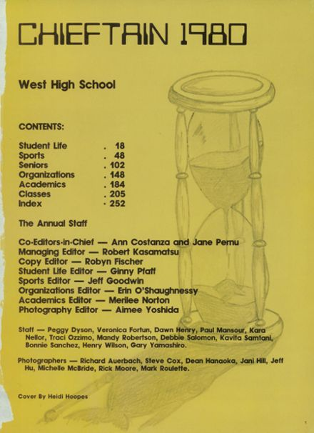 1980 West High School Yearbook Page 5