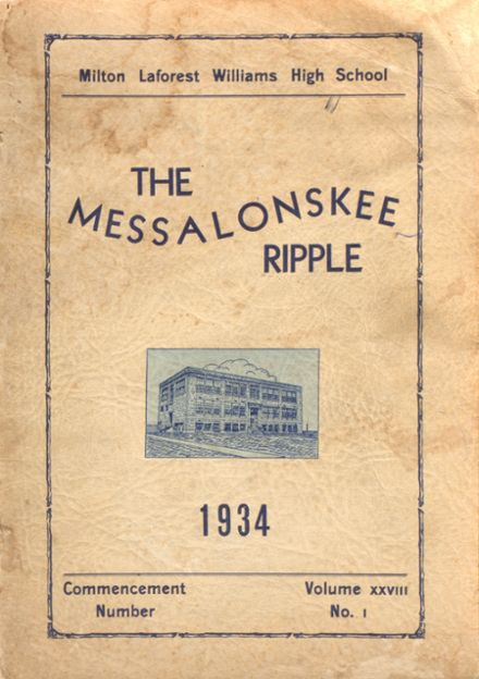 1934 Williams High School Yearbook Cover