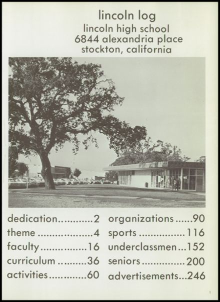 1968 Lincoln High School Yearbook Page 5