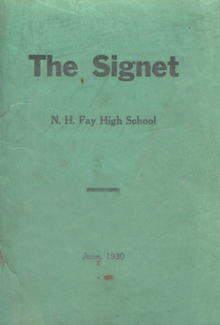 1930 N.H. Fay High School Yearbook Cover