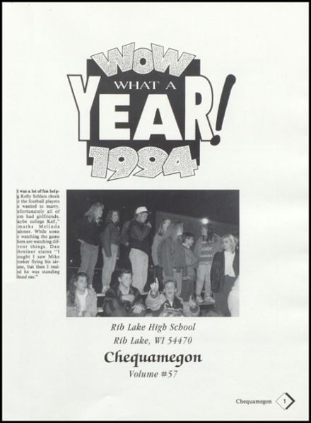 1994 Rib Lake High School Yearbook Page 5