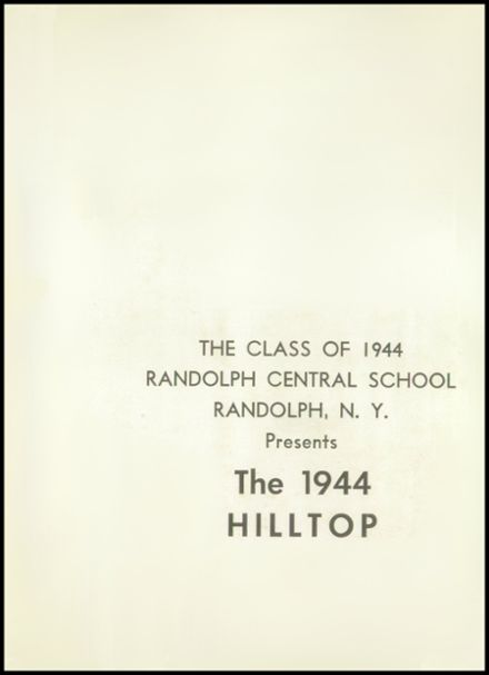 1944 Randolph High School Yearbook Page 5