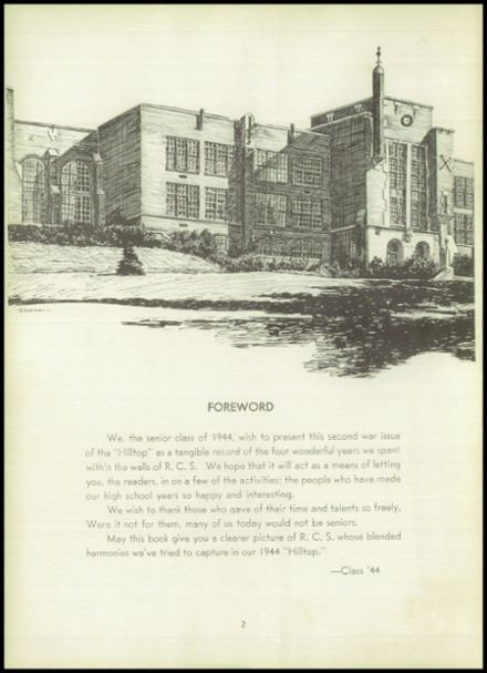 1944 Randolph High School Yearbook Page 6