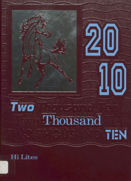 2010 Unity High School Yearbook Cover