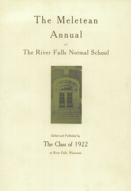 1922 River Falls High School Yearbook Page 7
