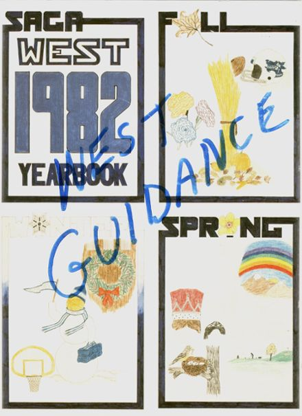 1982 West Bend High School Yearbook Cover