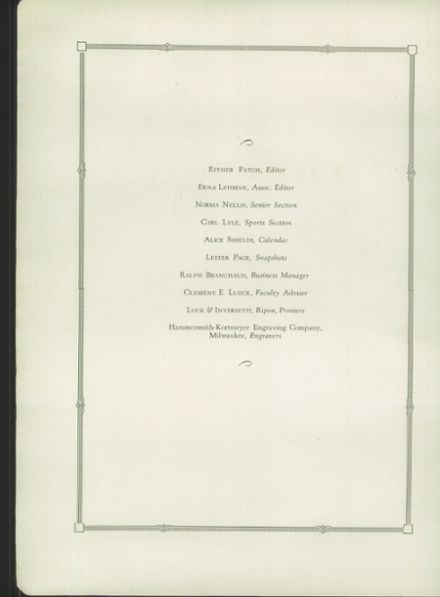 1933 Ripon High School Yearbook Page 6