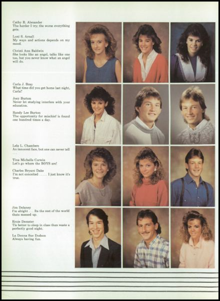 1988 Miller High School Yearbook Page 8