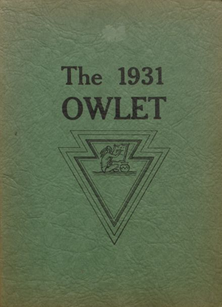1931 Cut Bank High School Yearbook Cover