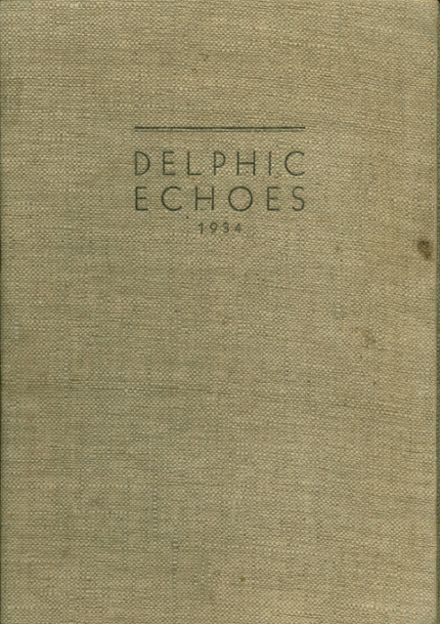1934 Dinuba High School Yearbook Cover