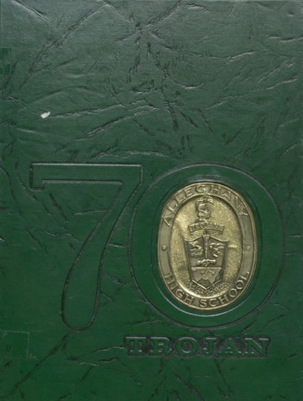 1970 Alleghany High School Yearbook Cover