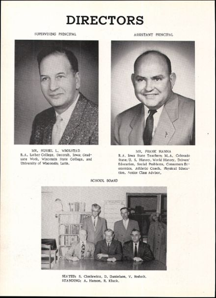 1957 Rosholt High School Yearbook Page 8