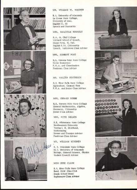 1957 Rosholt High School Yearbook Page 9