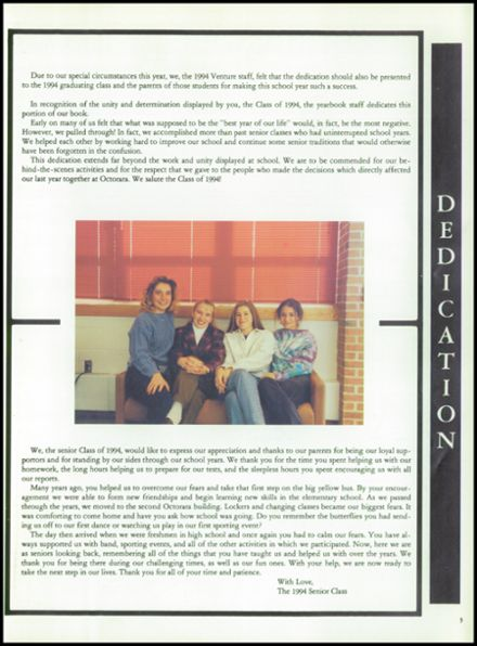 1994 Octorara High School Yearbook Page 7