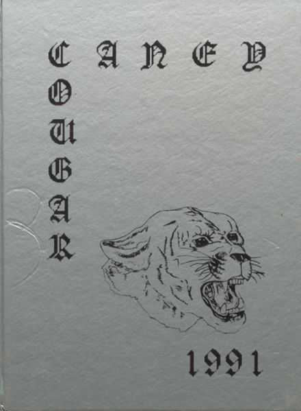 1991 Caney High School Yearbook Cover