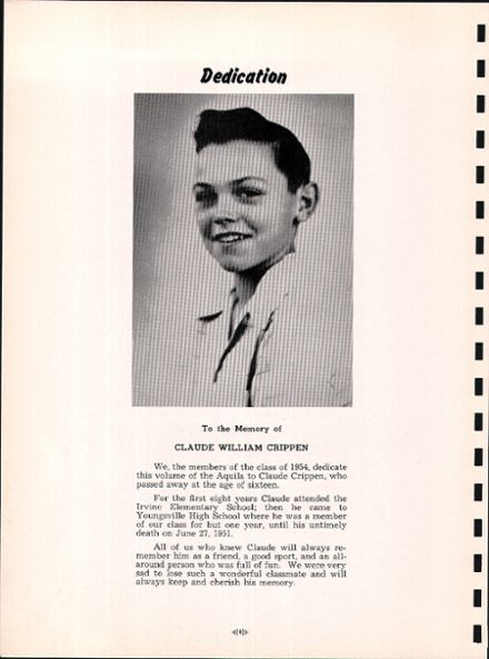 1954 Youngsville High School Yearbook Page 8