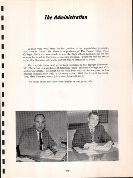 1954 Youngsville High School Yearbook Page 9