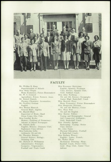 1947 New Milford High School Yearbook Page 6