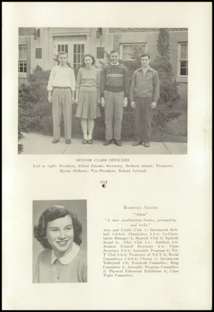 1947 New Milford High School Yearbook Page 7