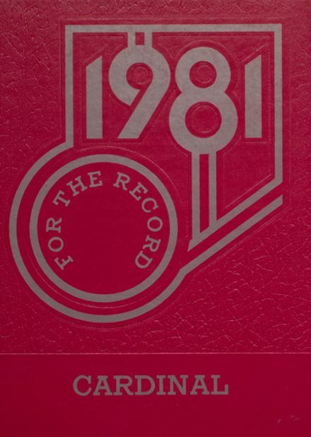 1981 Taylor County High School Yearbook Cover