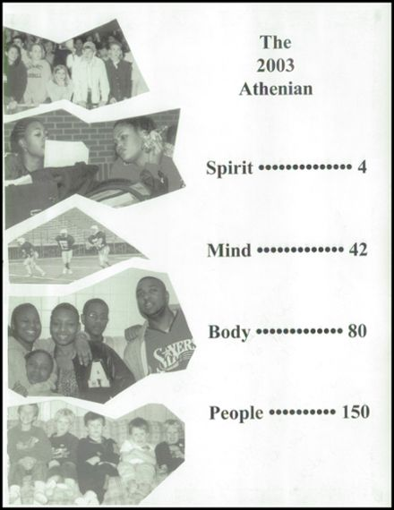 2003 Athens High School Yearbook Page 7
