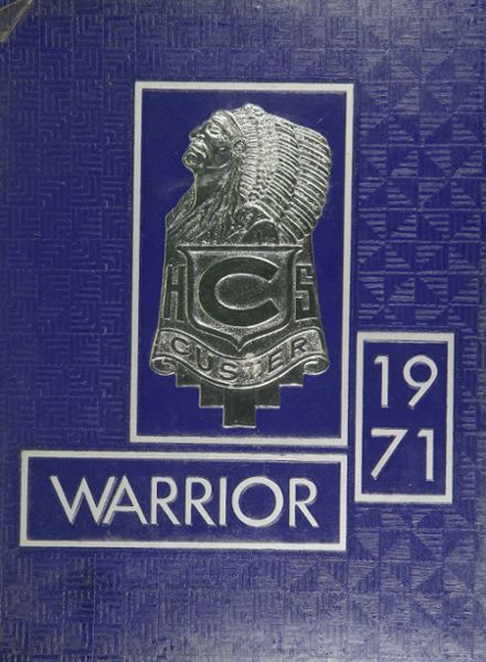1971 Custer High School Yearbook Cover