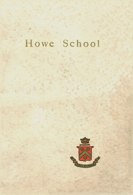 1916 Howe Military School Yearbook Cover