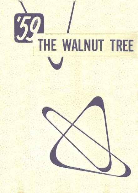 1959 Walnut Community High School Yearbook Cover