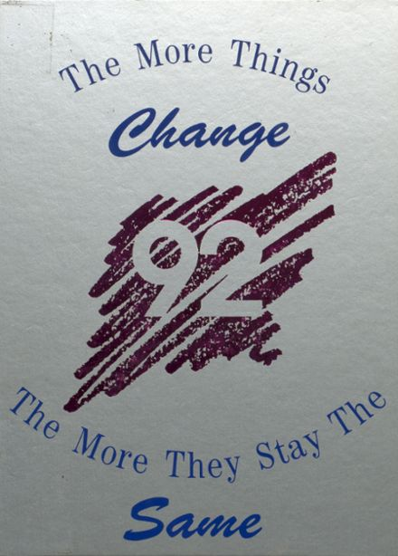 1992 McHenry Community High School Yearbook Cover