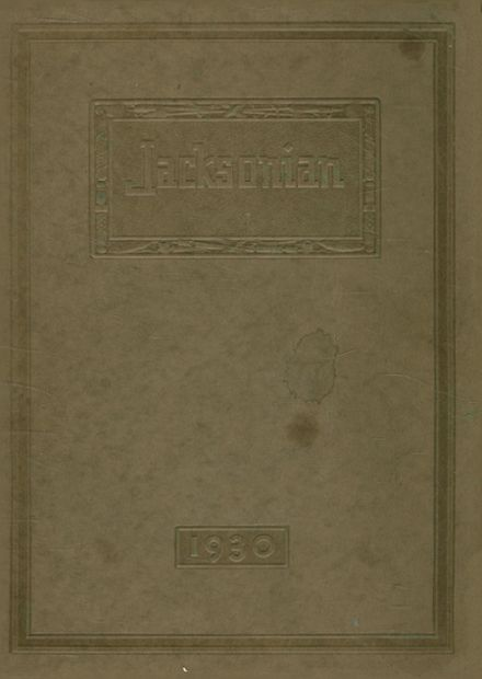 1930 Jackson High School Yearbook Cover