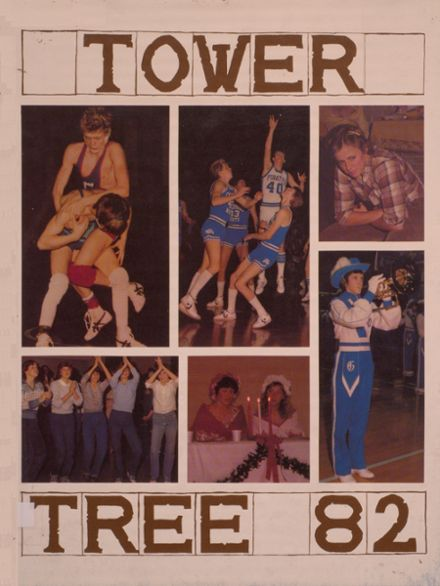 1982 Greensburg High School Yearbook Cover