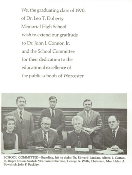 Explore 1970 Doherty Memorial High School Yearbook Worcester Ma