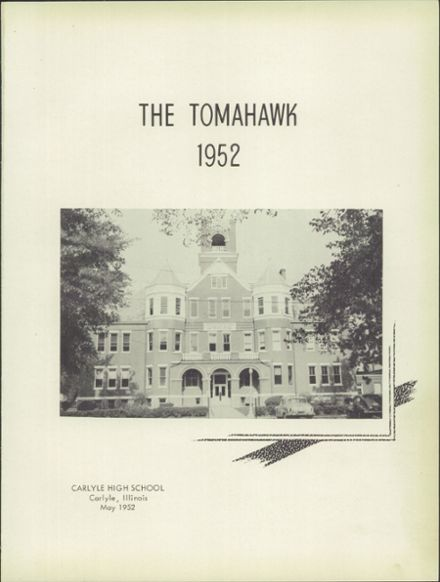 1952 Carlyle High School Yearbook Page 5