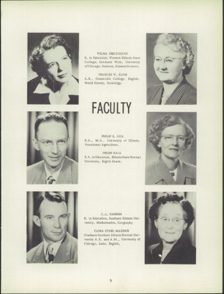 1952 Carlyle High School Yearbook Page 9