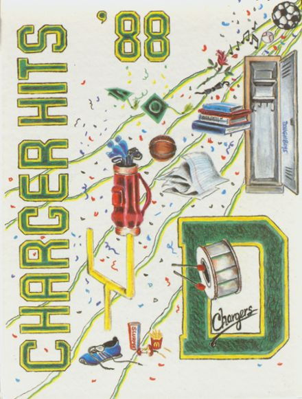 1988 Dow High School Yearbook Cover