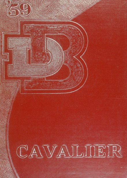 1959 Bishop Dubourg High School Yearbook Cover