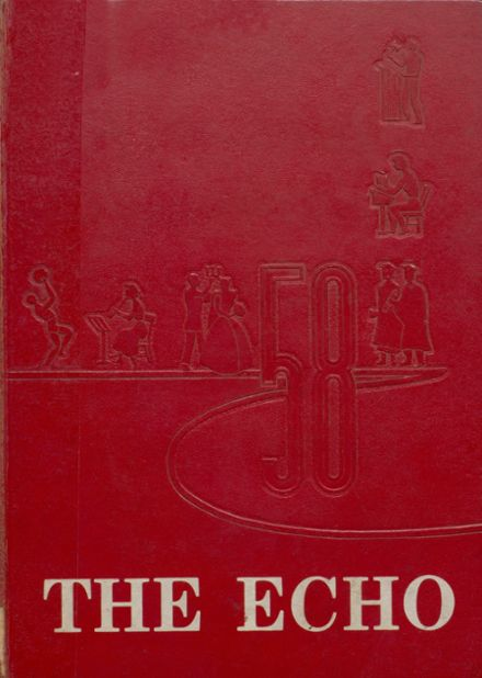1958 Bland High School Yearbook Cover