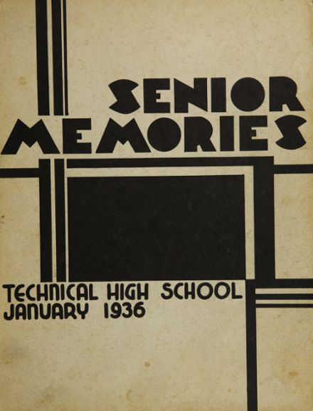 1936 Oakland Technical High School Yearbook Cover