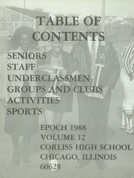 1988 Corliss High School Yearbook Page 6