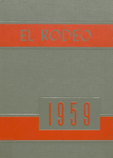 1959 Big Spring High School Yearbook Cover