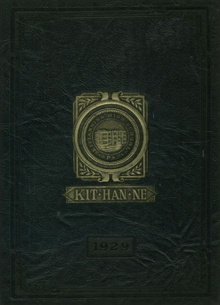 1929 Kittanning High School Yearbook Cover