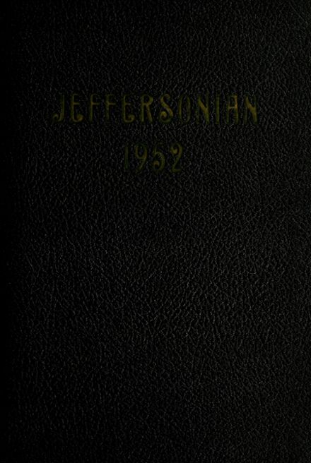 1952 Jefferson High School Yearbook Cover