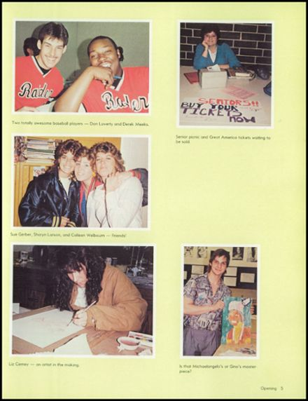 1986 Bolingbrook High School Yearbook Page 9