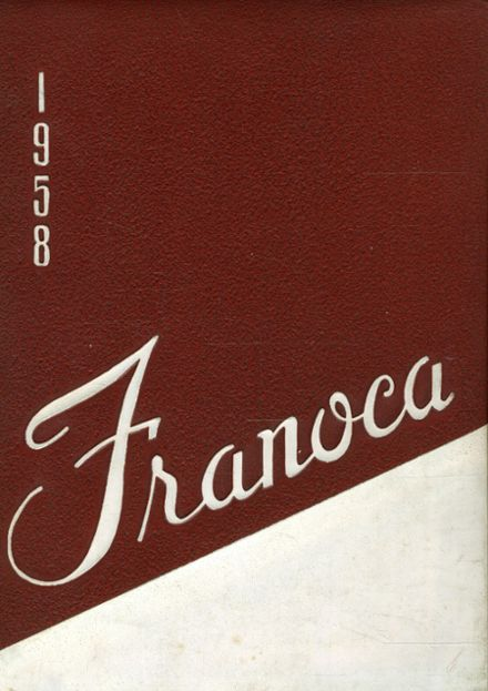 1958 Franklinton High School Yearbook Cover