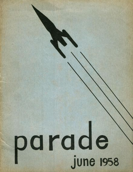 1958 Pershing High School Yearbook Cover