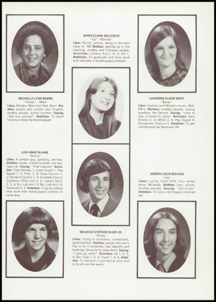 1978 Middleborough High School Yearbook Page 9
