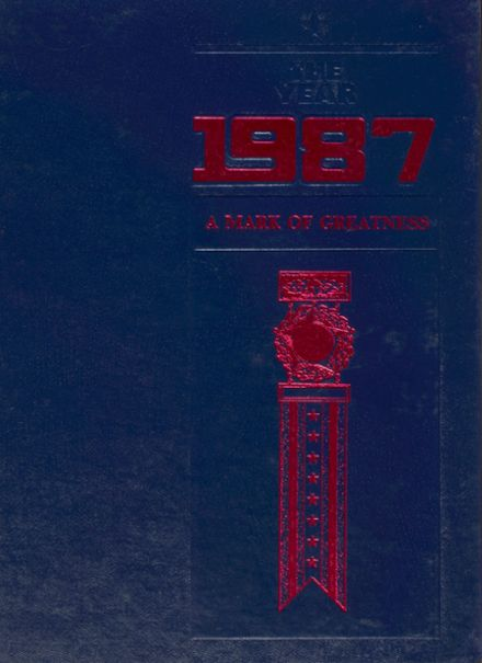 1987 Frederick Douglass High School 450 Yearbook Cover