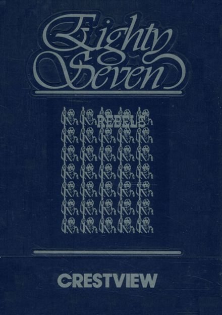 1987 Crestview High School Yearbook Cover