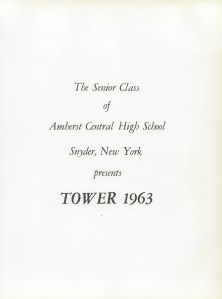 1963 Amherst Central High School Yearbook Page 5